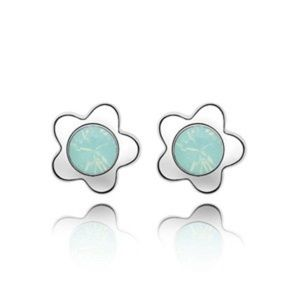 Swarovski Elements Crystal Flower Stud Earrings